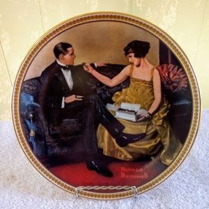 "Norman Rockwell Plate ""Flirting in the Par…"